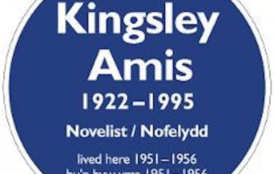 Kingsley Amis plaque picture courtesy of swansea county council