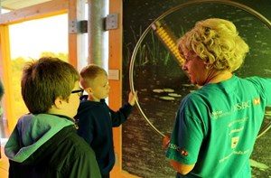 PUPILS from Lakefield School tested out the new Water Lab at Wildfowl and Wetland Trust Llanelli Wetland Centre at its official opening.