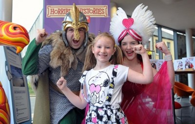 For Horrible Histories fans it was a dream come true when the Greeks and Vikings visited Llanelli's Ffwrnes Theatre.